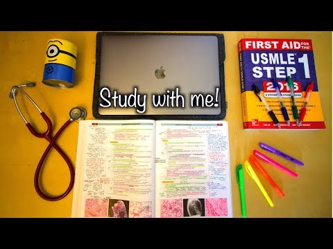 Study with me! I Medical Student Edition I (real time) w/music! 1 hour long!