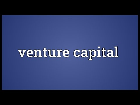 Venture capital Meaning