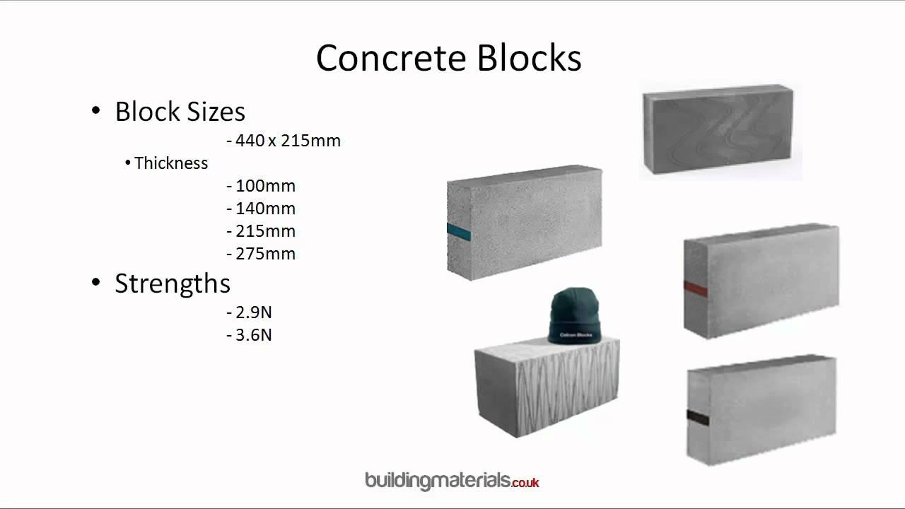 concrete blocks concrete solid dense all available youtube. Black Bedroom Furniture Sets. Home Design Ideas