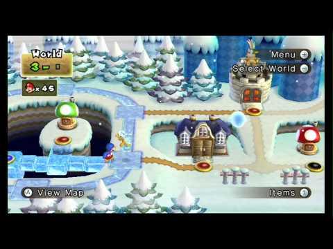 New Super Mario Bros. Wii 100% Walkthrough Part 5 - World 3 (3-1, 3-2, 3-3, 3-T) All Star Coins