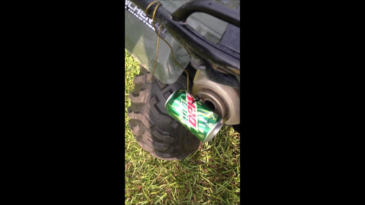 Cheap Atv Exhaust Mod Youtube