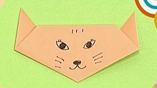 How To Make A Paper Fox  Tutorial  - Paper Friends 33 | Origami For Kids