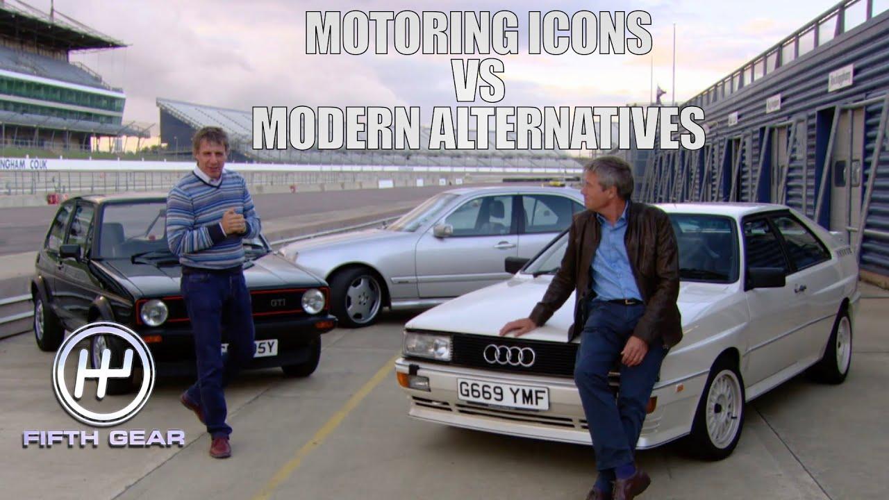 Download Motoring Icons: Golf GTI, Audi Quattro & Merc E55 VS their modern alternatives   Fifth Gear