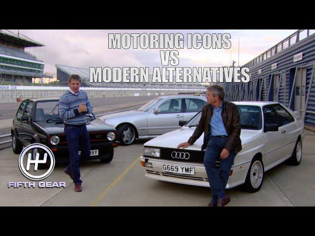 Motoring Icons: Golf GTI, Audi Quattro & Merc E55 VS their modern alternatives   Fifth Gear