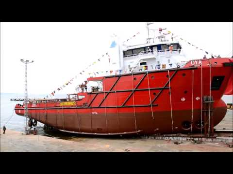 "Launching of ""Oya"" - Gelibolu Shipyard"