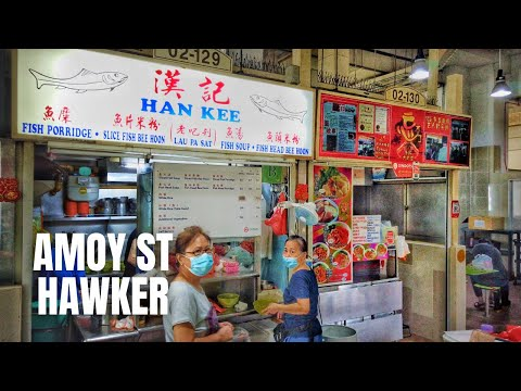 Amoy Street Food Centre Singapore: Cycling For Sliced Fish Soup