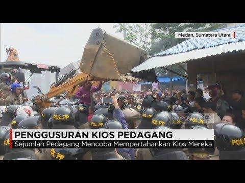 Penggusuran Ratusan Kios di Jalan Bulan, Medan Diwarnai Aksi Protes