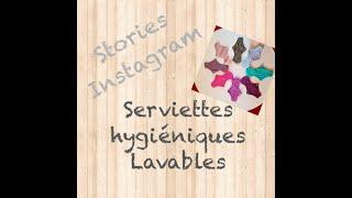 Les serviettes hygiéniques Lavables