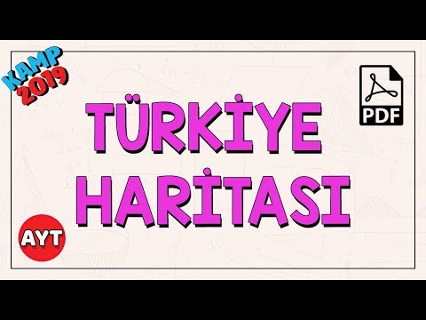 Türkiye Haritası   TYT - AYT Coğrafya