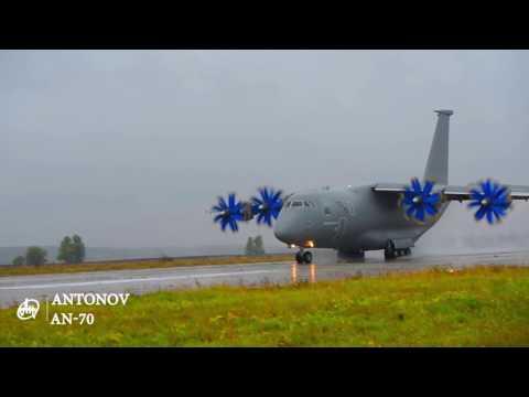 Посадка АН-70 в складних метеоумовах/AN-70 is landing under adverse weather conditions