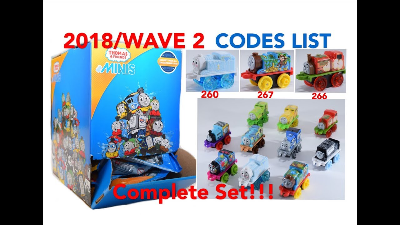 2018 wave 2 thomas minis blind bags complete set with codes listed