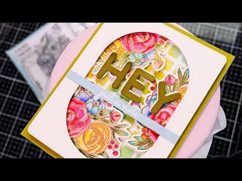 Dimensinal floral card