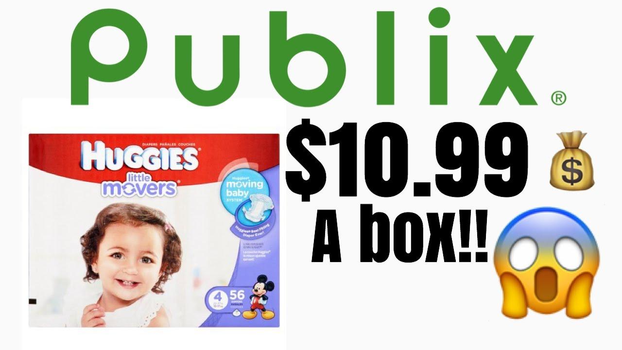 Publix Huggies Diaper Deal 3/30-4/5 $10.99 A BOX!!!
