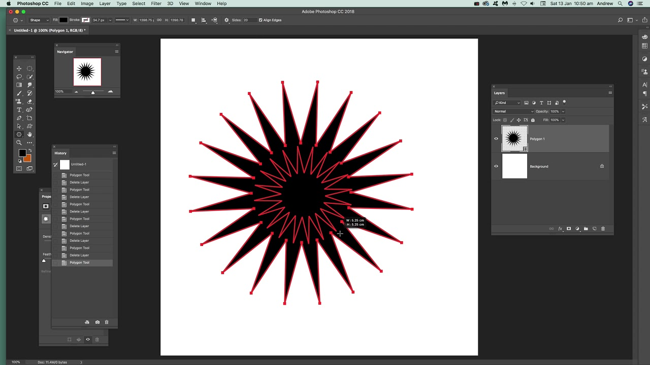 Create star shapes in Photoshop tutorial