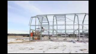 Outback Gambrel Steel Building,  Assembly, Fragrant Isle Lavander Farm  Time Lapse