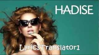 Hadise - Ask Kaç Beden Giyer (HD Lyrics TURC + ENGLISH)