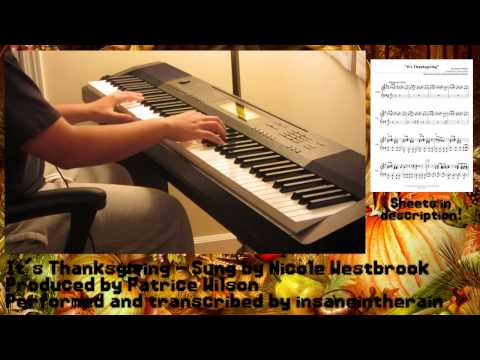 It's Thanksgiving - Nicole Westbrook - Patrice Wilson [Piano Cover]