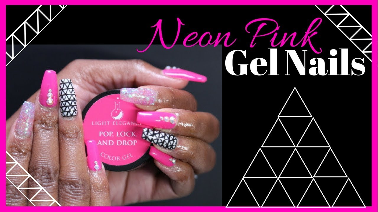 Neon Pink Gel Nails | Nailed It! - YouTube