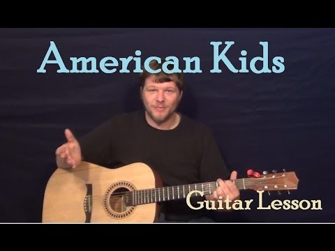 American Kids (Kenny Chesney) Easy Guitar Lesson How to Play Tutorial