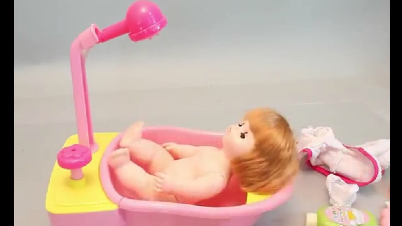 Mainan Anak Perempuan - Boneka Bayi Mandi Pakai Shower - YouTube d9fb0a6e46