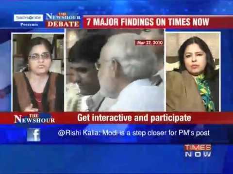 Confronted by Meenakshi Lekhi, Teesta Setalvad runs away from TV debate!