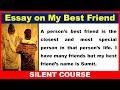 Essay on My Best Friend In English   English Essay on My Best Friend