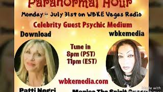 Famous Patti Negri Psychic Medium with Monica Spirit Queen on Radio |Part One