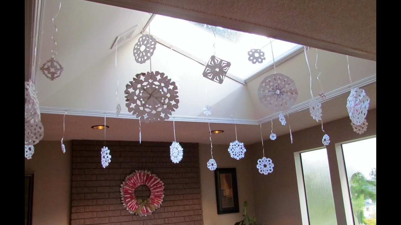 Paper tissue snowflake christmas decorations - Paper Tissue Snowflake Christmas Decorations 48