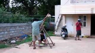 Trebuchet-water Balloon Launch