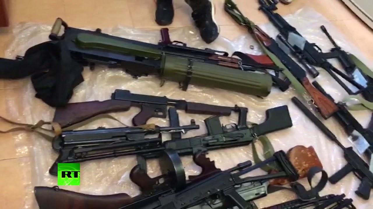 Видеокадры спецоперации по пресечению канала поставок оружия из стран ЕС в Россию