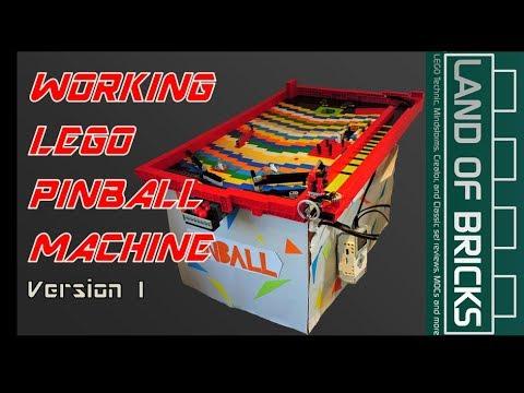 Working LEGO Mindstorms Pinball Machine Showcase // Land Of Bricks