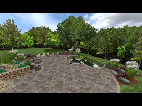 Dalia back landscaping design-Hyde Park NY