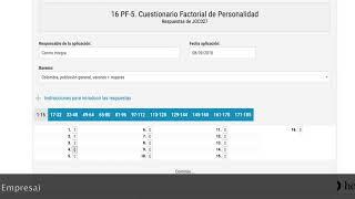 CÓMO calificar el #CUESTIONARIO de #PERSONALIDAD 16PF-5 a través de TEA ediciones.