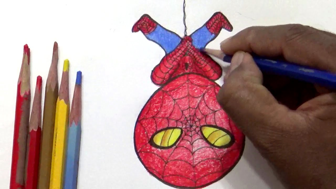 how to draw cartoons draw cute spider man youtube