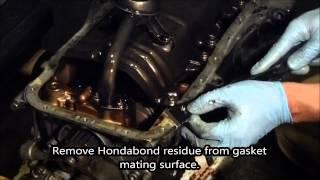 HOW TO:  Acura Integra Oil Pan Gasket Installation b16, b18, b20 using myHondaHabit Kit