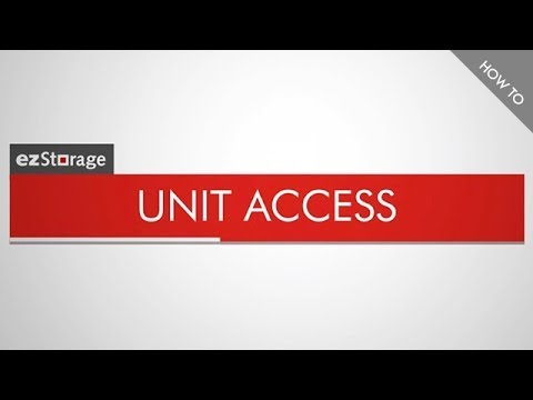 ezStorage How To: Unit Access
