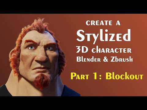 Tips for creating 3d Characters (Blender, Zbrush) Part 1 - Blockout