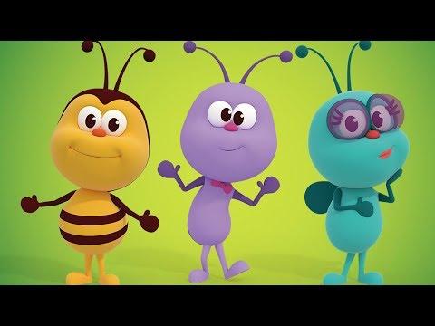 Весёлые песенки о насекомых - сборник детских песен! - детские песни  | Детское Королевство