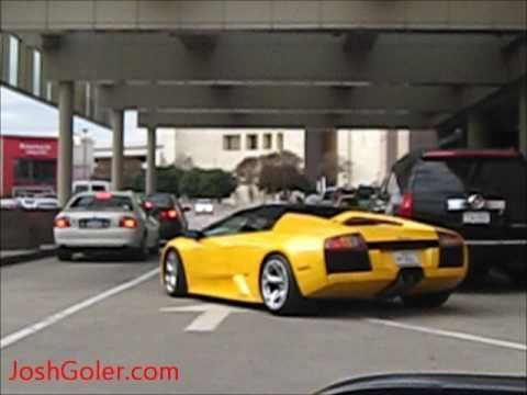 yellow lamborghini murcielago roadster engine sound launch acceleration 6 2l v12 youtube. Black Bedroom Furniture Sets. Home Design Ideas