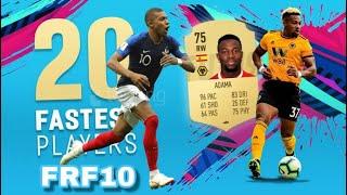 اسرع 20 لاعب فيفا 20 ||Top 20 fastest player in fifa 20