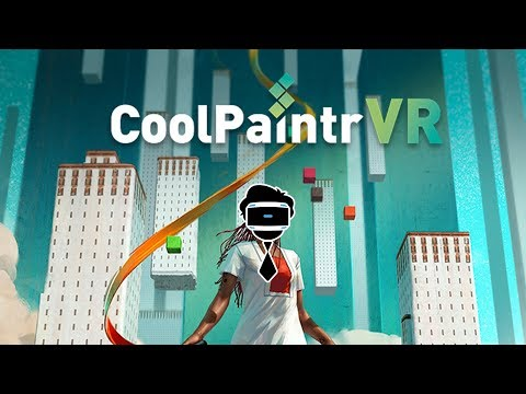Drawing in VR with CoolPaintr VR ( PSVR on PS4 Pro )