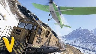 WILDLANDS LANDING A PLANE ON A TRAIN! :: Ghost Recon Wildlands Stunts