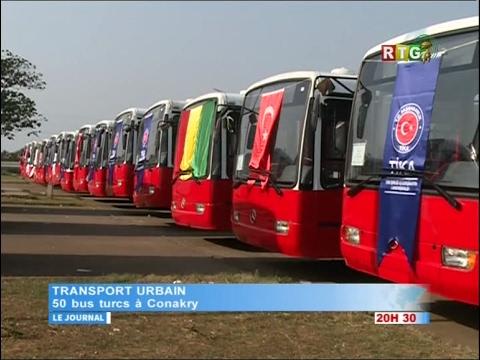 www.guineesud.com - RTG du 1er février 2017 : 50 bus turcs à Conakry (VIDEO 2)
