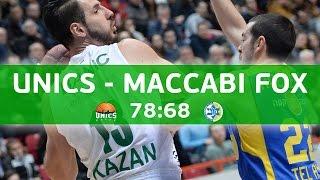 Unics Kazan vs Maccabi Tel Aviv. Game recap. 27.01.2016
