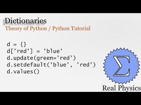 Dictionaries (Theory of Python) (Python Tutorial) thumbnail