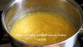 видео как приготовить кукурузную кашу на воде