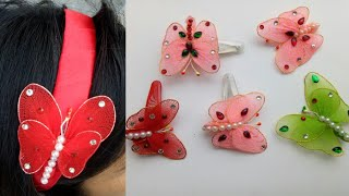 DIY Butterfly/ Nylon Butterfly/How to make stocking Butterfly/craft Butterfly/Hanging Butterfly