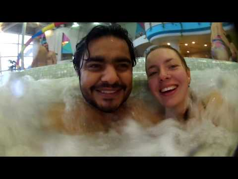 WATERPARK!!!! in minus 3 degree temperature in MOSCOW  ( RUSSIA )