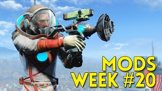 Fallout 4 TOP 5 MODS Week #20 - Enclave X-02, Perk Overhaul, Space Suit, Basement Living