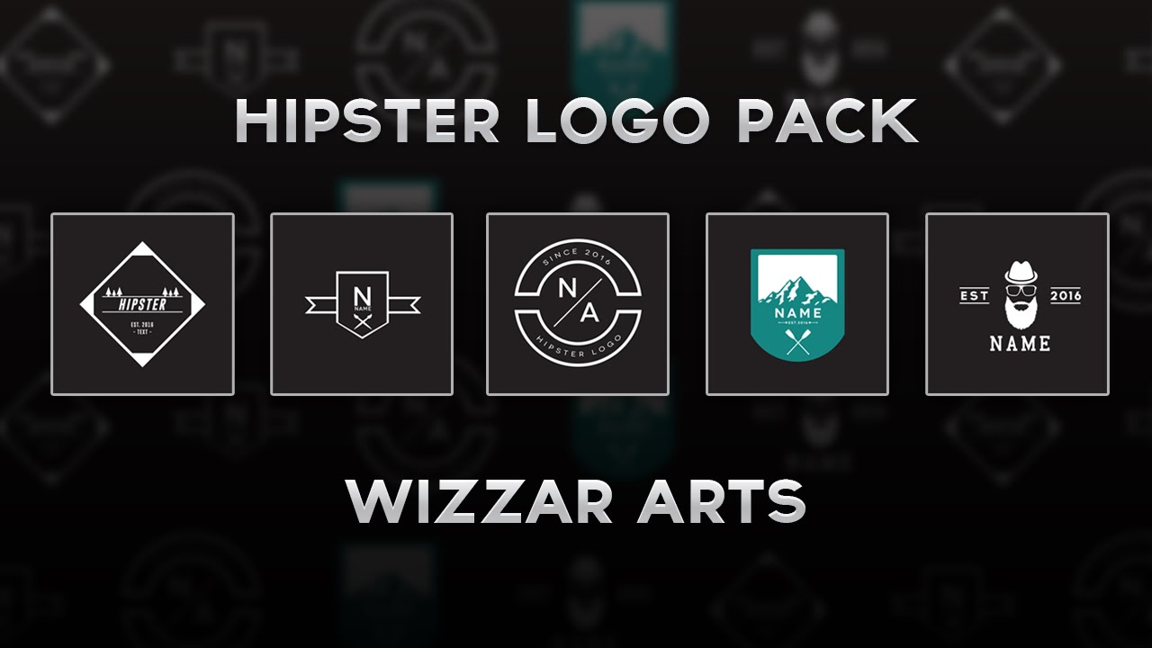 free hipster logo pack psd youtube